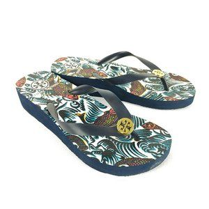 Tory Burch Wedge Platform Flip Flops Sandals Women